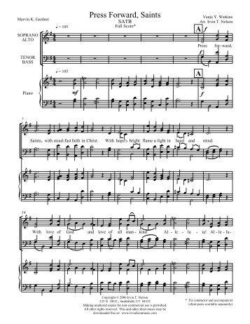 Download Full Score - Irv Nelson Music