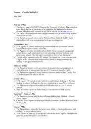 Summary of media 'highlights' - Association of Independent Schools ...