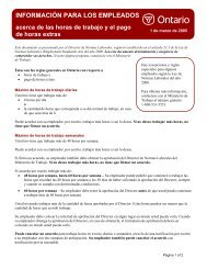 Information for Employees: About Hours of Work and Overtime Pay