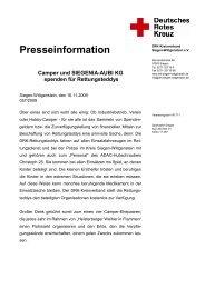 Presseinformation Camper und SIEGENIA-AUBI KG spenden für ...
