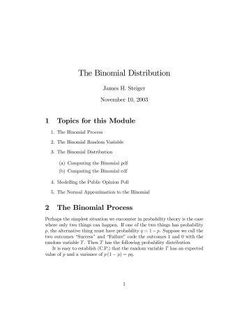 The Binomial Distribution - Statpower