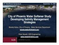 City of Phoenix Water Softener Study Developing Salinity ...