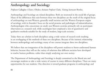 Anthropology and Sociology - Ursinus College