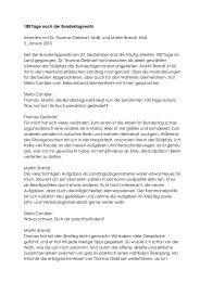 100 Tage nach der Bundestagswahl