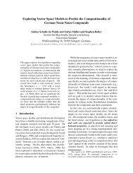 Exploring Vector Space Models to Predict the ... - clic-cimec