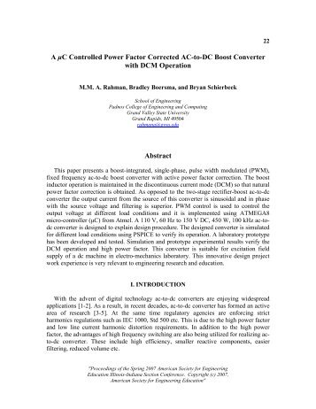 A µC Controlled Power Factor Corrected AC-to-DC Boost Converter ...