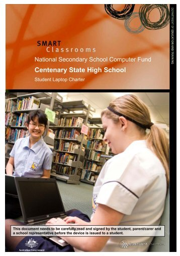 Student Laptop Charter - Centenary State High School