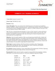 2013 Training Schedule - AMAG