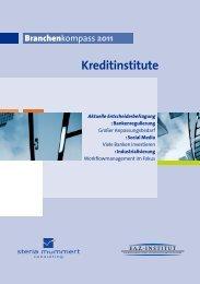 Kreditinstitute Branchenkompass 2011 - Steria
