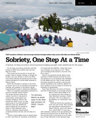 Sobriety, One Step At a Time - Washington Trails Association