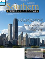 NF DA/CANA - The Southern Funeral Director Magazine