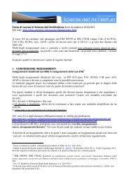 nel passaggio dal DM 509/99 al DM 270/04 cinque CdL (TAC/PAU ...