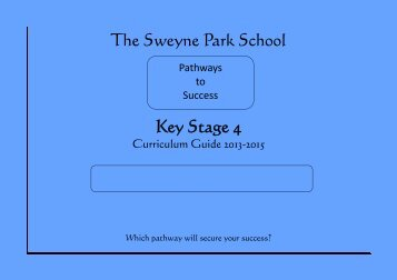 KS4 Curriculum/Options - The Sweyne Park School