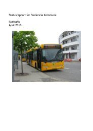 Statusrapport for Fredericia Kommune Sydtrafik April 2010