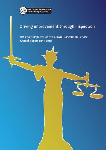 Driving improvement through inspection - HMCPSI