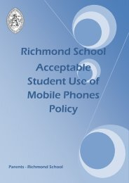 Mobile Phone Policy - Richmond School