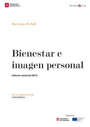 Informe sectorial: Bienestar e imagen personal - Barcelona Treball