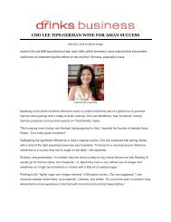 CHO LEE TIPS GERMAN WINE FOR ASIAN SUCCESS - Asian Palate