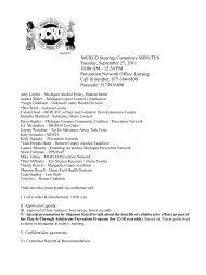 MCRUD Steering Committee MINUTES Tuesday, September 27 ...