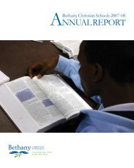 ANNUAL REPORT - Bethany Christian Schools