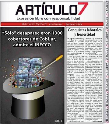 """""""Sólo"""" desaparecieron 1300 cobertores de Cobijar ... - a7.com.mx"""