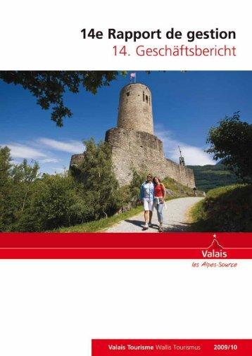 14. Geschäftsbericht Wallis Tourismus - RW Oberwallis