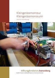 Kleingerätemonteur/in