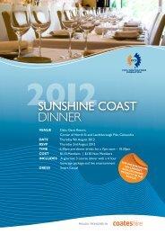 SuNShiNe COAST DINNER - Civil Contractors Federation