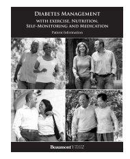 Diabetes Management Manual - Beaumont physicians
