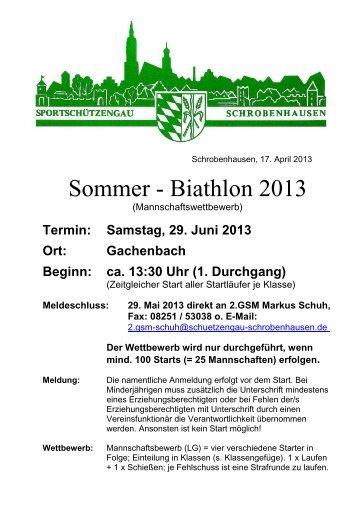 Sommer - Biathlon 2013 - Sportschützengau Schrobenhausen