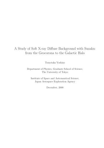 PDF file (7.2MB) - X-ray Astronomy Group at ISAS
