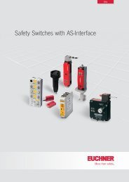 Safety Switches with AS-Interface - EUCHNER GmbH + Co. KG