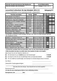 Liste der Lernmittel für das Schuljahr2005/06 - Hannah-Arendt ...