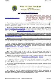 Lei nº 10.593, Reestruturação Carreira Auditoria Tesouro ... - Udop