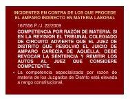 Cumplimiento, incidentes y suspensión laboral