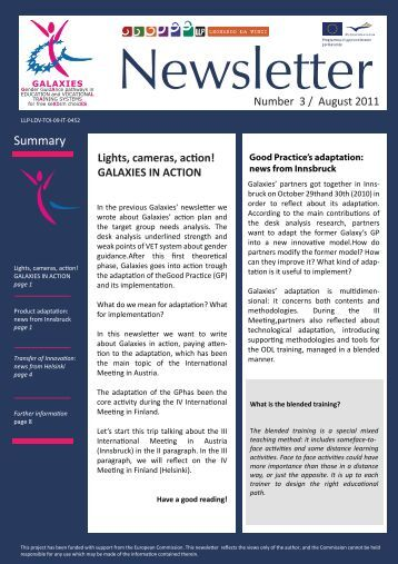 Download newsletter Issue 3 - Galaxies