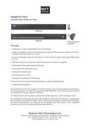 Modell NV-1613 - CBC CCTV