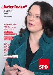 Roter Faden Ausgabe 11 2013 - SPD-Ortsverein Sehnde