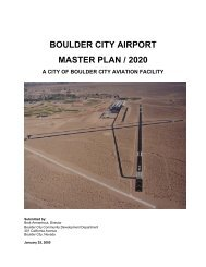 BOULDER CITY AIRPORT MASTER PLAN / 2020 JANUARY 2005 ...