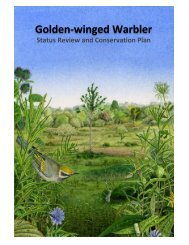 Review and download Chapter 3 - Golden-winged Warbler Working ...