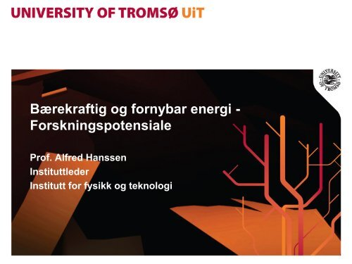 Fornybar energi ved UiT: forskning