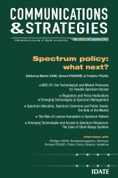 Spectrum policy - Idate