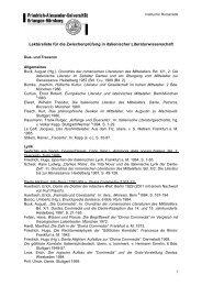 Lektüreliste für die Zwischenprüfung in italienischer - Institut für ...