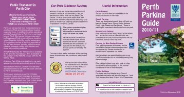 Perth Parking Guide - Perth & Kinross Council