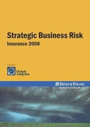 Strategic Business Risk – Insurance 2008