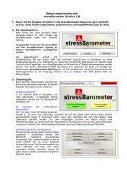Bedienungshinweise zum stressBarometer (Version 2.0)