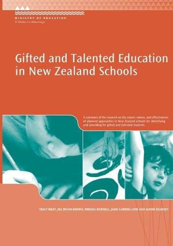 Gifted and talented education in New Zealand schools (PDF, 3 MB)