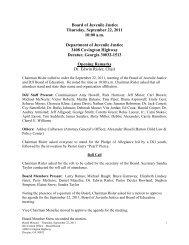 Board of Juvenile Justice Thursday, September 22, 2011 10:00 a.m. ...