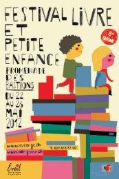 Programme 2012 du Festival du livre petite enfance - Ville de Genève