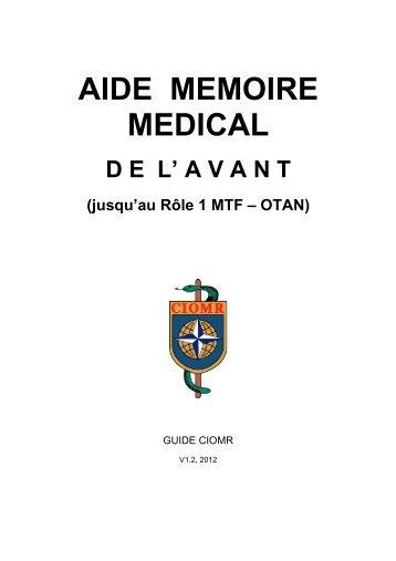 AIDE MEMOIRE MEDICAL - ciomr